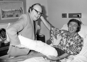 Des O'Conner with Eric Morecambe